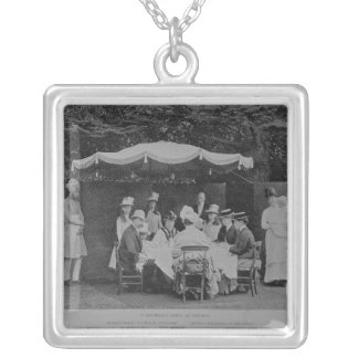 A Breakfast Party at Osbourne Silver Plated Necklace