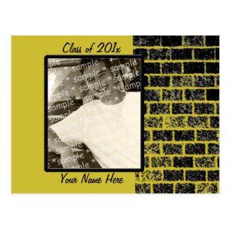 A brick in the wall grad card