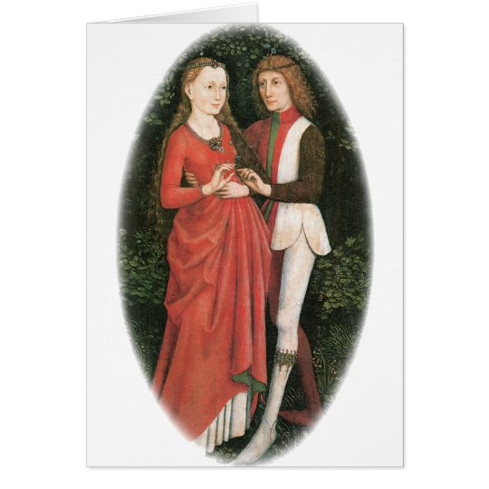 A Bridal Pair ~ artist unknown Card