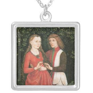 A Bridal Pair ~ artist unknown Square Pendant Necklace