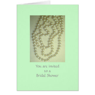 A Bridal Shower Stationery Note Card