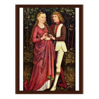 A Bride And Groom By Schwäbischer Meister Um 1470 Post Card
