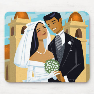 A Bride and Groom Mouse Pad