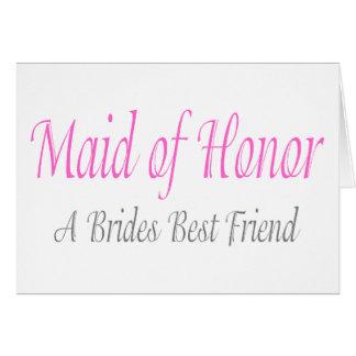 A Bride's Best Friend Card