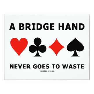 A Bridge Hand Never Goes To Waste Four Card Suits