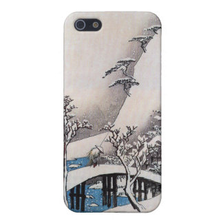 A Bridge in a Snowy Landscape, Ando Hiroshige Case For iPhone SE/5/5s