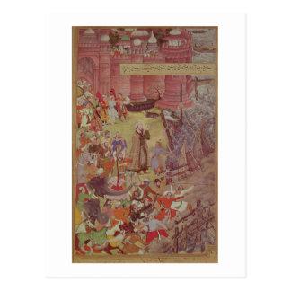 A Bridge of boats broken by Akbar (r.1556-1605) on Postcard
