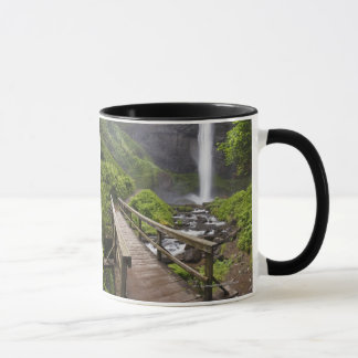 A Bridge Over Columbia River And Latourell Falls Mug