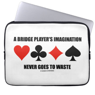 A Bridge Player's Imagination Never Goes To Waste Computer Sleeves