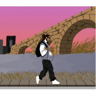 A Bridge View Stroll (digital) alt Acrylic Cut Out
