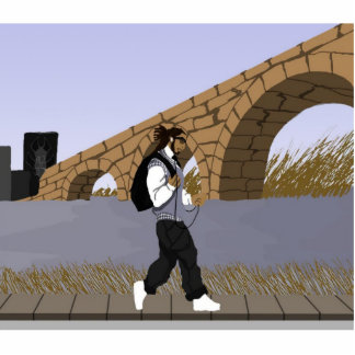 A Bridge View Stroll (digital) Acrylic Cut Out