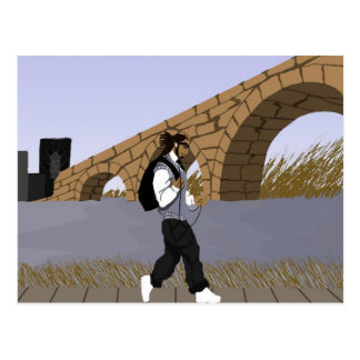 A Bridge View Stroll (digital) Postcard