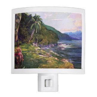 'A Bridle Path in Tahiti' - John La Farge Night Light