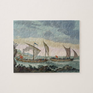 A Brigantine giving chase to a Felucca, and about Jigsaw Puzzle