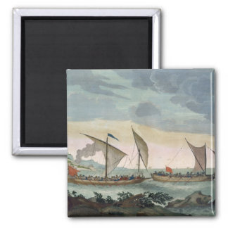 A Brigantine giving chase to a Felucca, and about Magnet