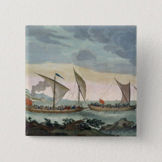 A Brigantine giving chase to a Felucca, and about Pinback Button