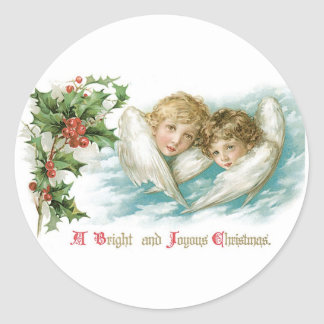 A Bright and Joyous Christmas Classic Round Sticker