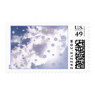 A Bright and Starry Day Postage