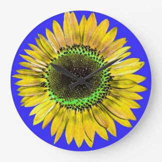 A Bright and Sunny Yellow Sunflower Wall Clocks