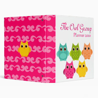A Bright Bunch of Owls Binder