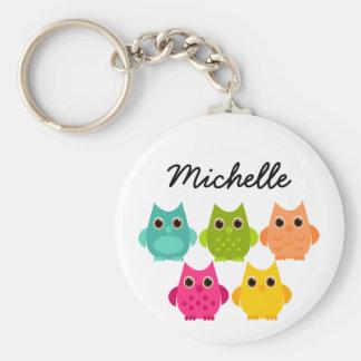 A Bright Bunch of Owls Keychain