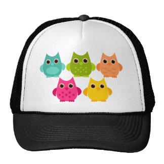 A Bright Bunch of Owls Trucker Hats