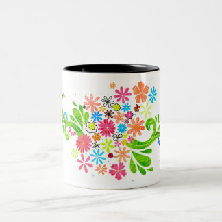 a bright, fresh design mug