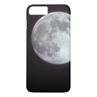 A bright full moon in a black night sky iPhone 8 plus/7 plus case