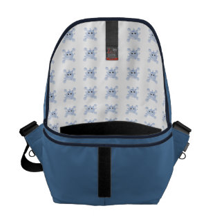 A Bright, Fun Blue Water Splat Courier Bag