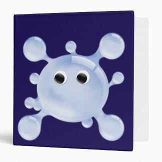 A Bright, Fun blue Water Splat Ring Binder