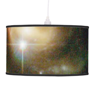 A Bright Galaxy Interacts With a Companion Pendant Lamp