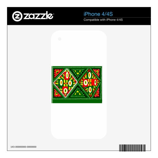 a bright green design to enhance your mood iPhone 4S skin