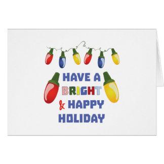 A Bright Holiday Card