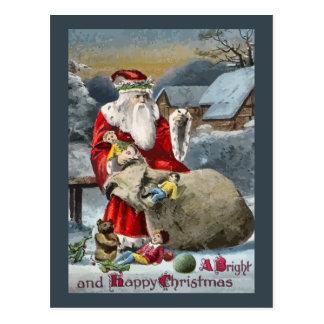 A Bright & Merry Christmas Postcard