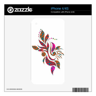 A bright modern abstract collage design decals for iPhone 4