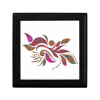 A bright modern abstract collage design keepsake boxes
