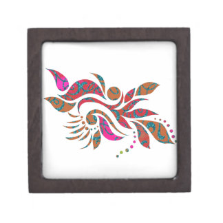A bright modern abstract collage design premium trinket boxes