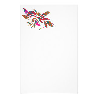 A bright modern abstract collage design stationery
