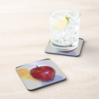 A Bright Red Apple Coaster