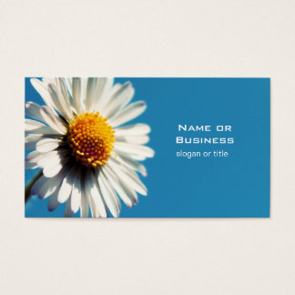 A Bright White Daisy under a Big Blue Sky Business Card