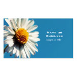 A Bright White Daisy under a Big Blue Sky Double-Sided Standard Business Cards (Pack Of 100)