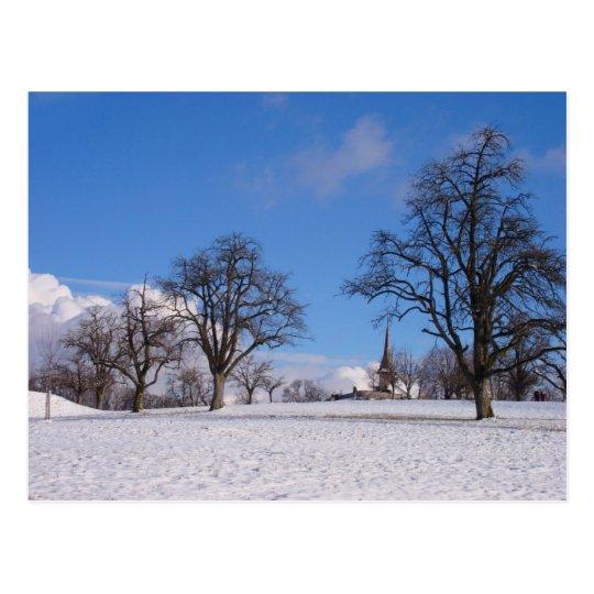 A bright winter day postcard
