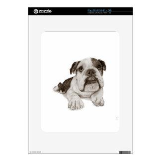 A Brindle Bulldog Puppy Skin For The iPad