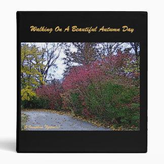 A Brisk Autumn's Day Walk 3 Ring Binder