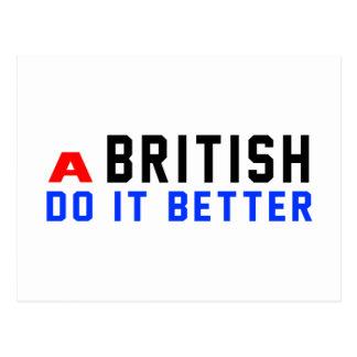 A British Do It Better Postcards