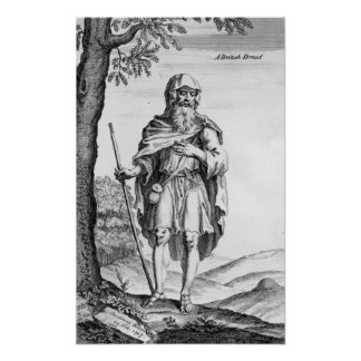 A British Druid engraved by van der Gucht 1723 Poster