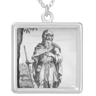 A British Druid, engraved by van der Gucht, 1723 Silver Plated Necklace
