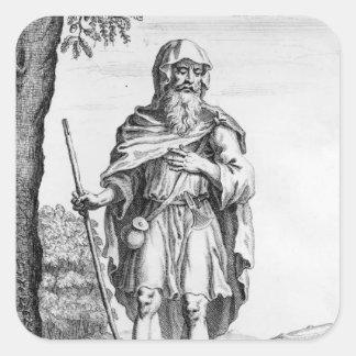 A British Druid, engraved by van der Gucht, 1723 Stickers