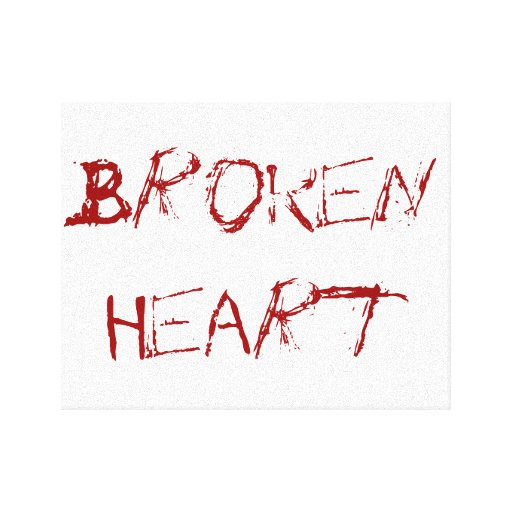 A Broken Heart Canvas Prints