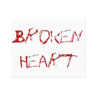 A Broken Heart Canvas Print